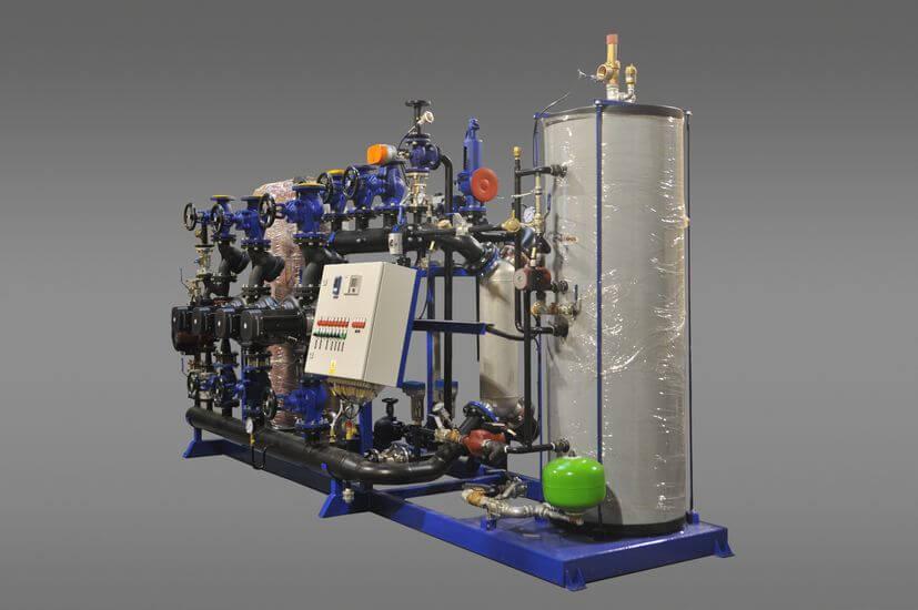 Węzeł ciepły woda-woda